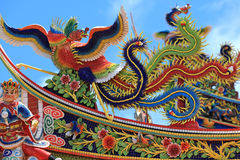 Temple roof. Taipei. Colorful temple roof. Taipei, Taiwan royalty free stock photography