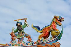 Temple roof.Taiwan Royalty Free Stock Photos