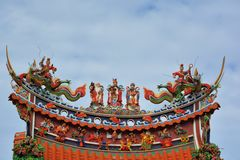 Temple roof.Taiwan Stock Image