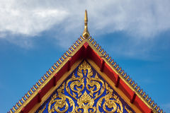Temple roof. Thai temple roof triangle end Stock Image