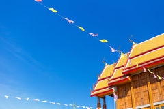 Temple Roof. Thai Temple roof under blue sky Royalty Free Stock Images