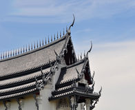 Temple roof. Roof of temple in thailand Stock Photography