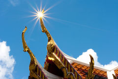 Temple roof thailand Stock Photography