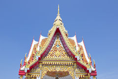 Temple roof in Thailand. Public temple roof in Thailand Stock Photos