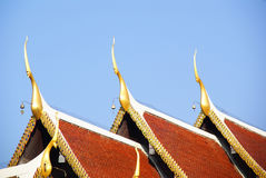 Temple roof Royalty Free Stock Photography