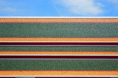 Temple roof tile. Pattern of the temple roof tile in Thailand Royalty Free Stock Photos