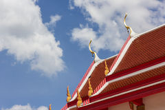 Temple roof. Two roof temple in Thailand Stock Photo