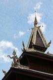 Temple roof. At Wat Phra That Su Thon Mongkhon Khiri Samakkhi Tham, Phrae, Thailand royalty free stock photos