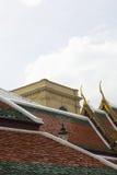 Temple roof at wat prakaew. Bangkok Thailand Stock Image