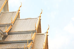Temple Roof, Wat Sothorn Wararam Worawihan, Chachoengsao Province, Thailand Stock Photography