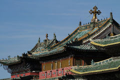 Temple roofs in Erdene Zuu Royalty Free Stock Image