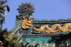 Temple rooftop Royalty Free Stock Photography