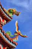 Temple Rooftop Detail Stock Image