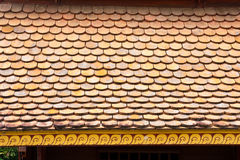 Temple Rooftop Tiles, Thailand Royalty Free Stock Photos