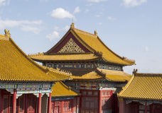 Temple Rooftops in Forbidden City Royalty Free Stock Photography