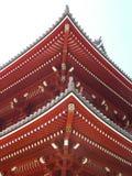 Temple rouge dans l'asakusa Images stock