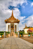 temple royal de palais de hdr du Cambodge photographie stock