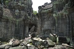 Temple Ruin. In Angkor Royalty Free Stock Photo