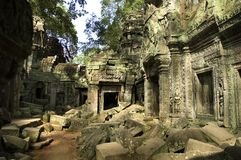Temple Ruin. In Angkor Stock Image
