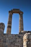 Temple Ruin Columns Stock Image