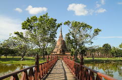 Temple Ruin in historical park of Thailand Royalty Free Stock Image