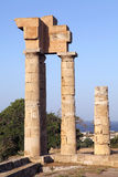 Temple ruin on the island of Rhodes Royalty Free Stock Image
