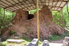 Temple ruin of the My Son complex. Under protective cover, Vietnam Stock Photography