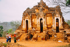 Temple ruin of the Shwe Inn Dein. Stock Photos