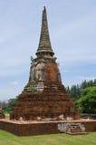 Temple ruin at Wat Mahatat in Ayuttaya Royalty Free Stock Photos