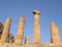 Temple Ruins. In Agrigento, Sicily Stock Images