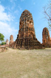 Temple ruins. Buddhist temple ruins in Ayutthaya Thailand Stock Photography