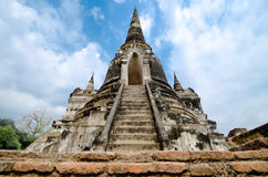 Temple ruins. Buddhist temple ruins in Ayutthaya Thailand Royalty Free Stock Image