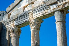 Temple ruins in Ancient Apollonia royalty free stock photos