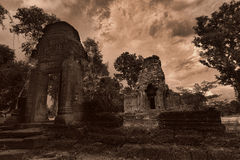 Temple ruins in Angkor Stock Photos