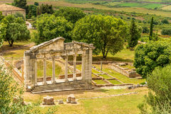 Temple ruins in Apollonia. Royalty Free Stock Images