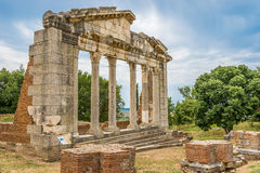 Temple ruins in Apollonia. Stock Images
