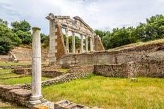 Temple ruins in Apollonia. Stock Photo