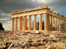 Temple Ruins in Athens Stock Photo