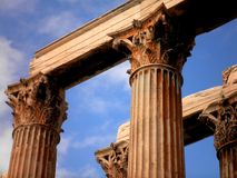 Temple Ruins in Athens Stock Photos