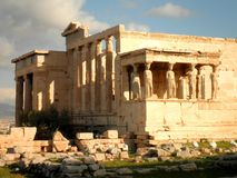 Temple Ruins in Athens Royalty Free Stock Photos