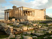 Temple Ruins in Athens Royalty Free Stock Photography