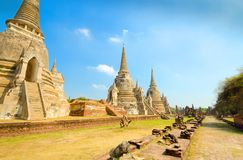 Temple Ruins at Ayutthaya, Thailand, UNESCO World Heritage Site Stock Images