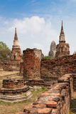Temple Ruins, Ayutthaya Royalty Free Stock Photos