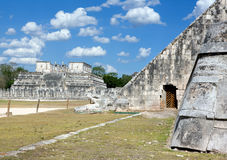 Temple ruins in Chichen Itza. Royalty Free Stock Images