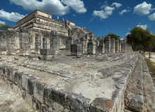 Temple ruins in Chichen Itza. Stock Photos