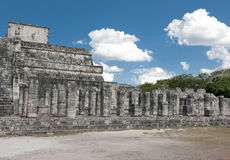 Temple ruins in Chichen Itza. Royalty Free Stock Photo
