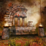 Temple ruins in the forest Stock Photography