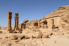 The temple ruins at Jebel Barkal in Sudan Royalty Free Stock Photography