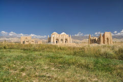 Temple ruins in Kyrgyzstan Royalty Free Stock Photo