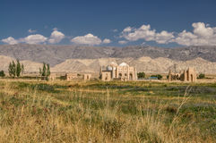 Temple ruins in Kyrgyzstan Royalty Free Stock Photography